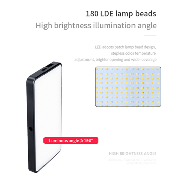 Manbily MFL-06 Dimmable Mini LED Video Light On Camera Light DSLR Fill Light 180 LED Photographic Lighting Lamp For Selfie Canon