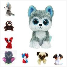 Ty Beanie Boos Gray Dog Plush Toy Doll Baby Girl Birthday Gift Stuffed Plush Animals 15cm