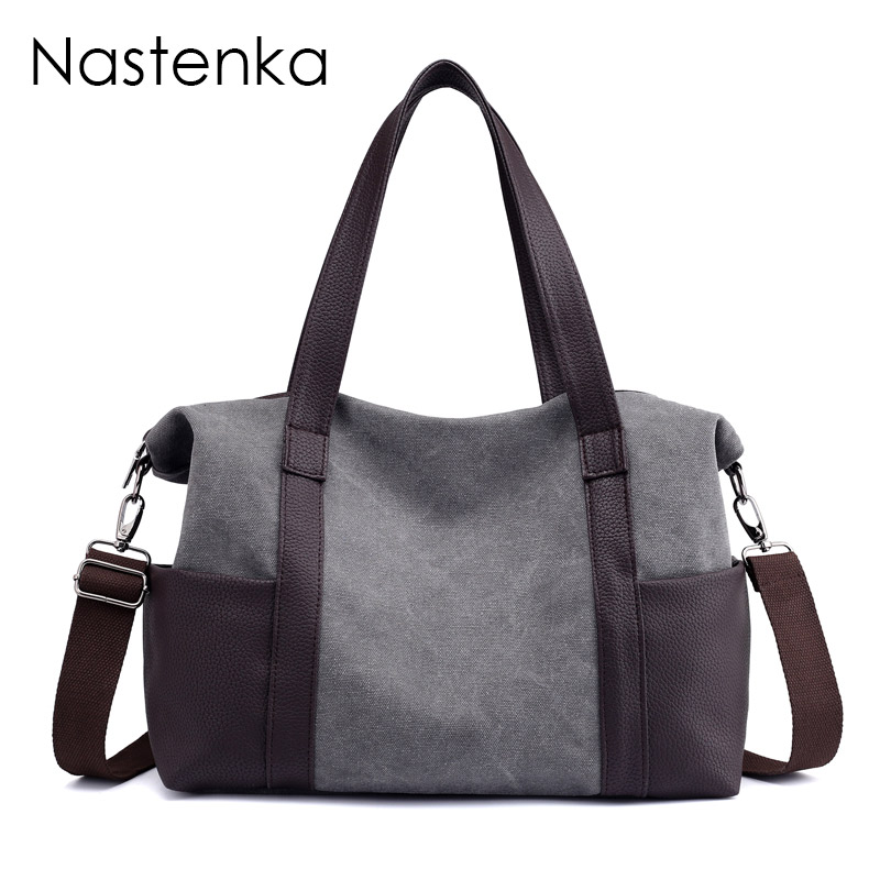Retro Women Bag Large Canvas Bags For Women Shoulder Bag Female Daily Casual Tote Lady Elegant Shopping Handbags Dames Tassen ...