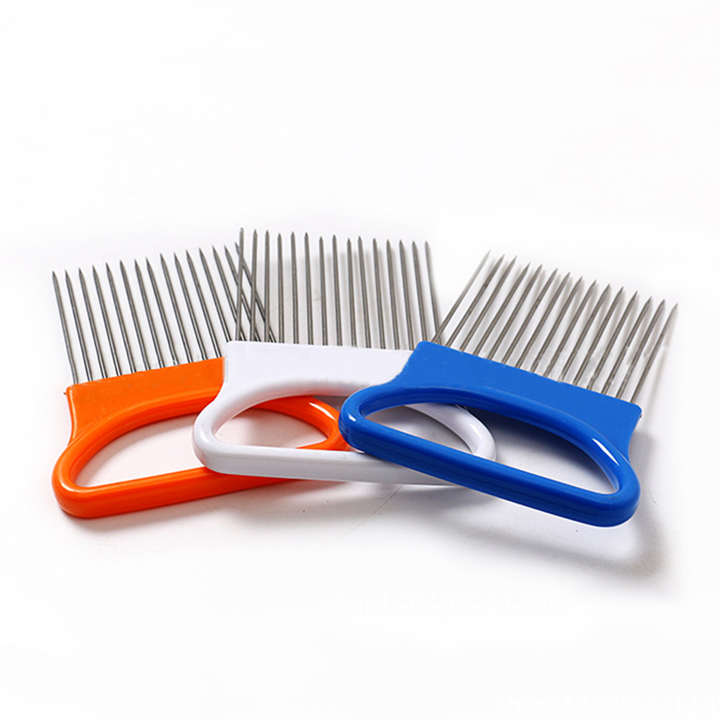 Vegetable Fruit Beef Onion Slicer Cutting Holder Slicing Cutter Stainless Steel Meat Needle