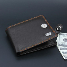 Black PU Leather Small Men Wallet Vintage Mini Male Wallets Short Male Hasp Coin Purse Credit Card Holder Purses Money bag