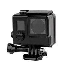 Sualtı dalış siyah su geçirmez konut Hard Case kapak Gopro HD Hero 4/3 +