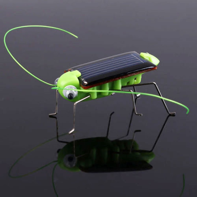 New Style Funny Grasshopper Model Solar Toy Baby Children Kids Fashion Educational Toys