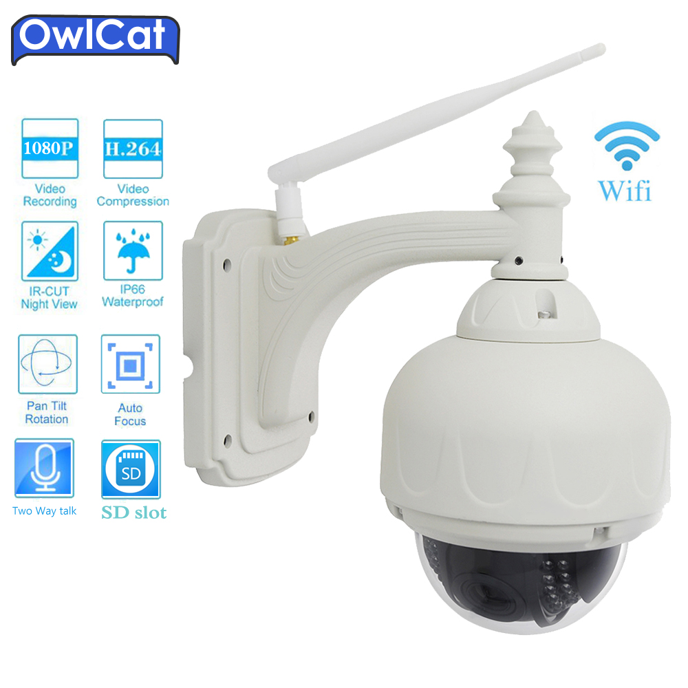 OwlCat SONY Wifi 5X Zoom PTZ IP Camera 1080P 960P Wireless P2P Alarm CCTV Dome Outdoor Cam With SD Card Slot Max 128G IR ONVIF azishn yoosee wifi onvif ip camera 1080p 960p 720p wireless wired p2p alarm cctv outdoor camera with sd card slot max 128g