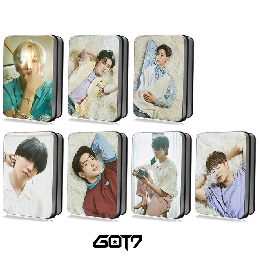 You Polaroid Lomo Photo Card Bambam Mark Hd Photocard Cards With Metal Box 30pcs Beads & Jewelry Making Persevering Kpop Got7 Present Jewelry Findings & Components