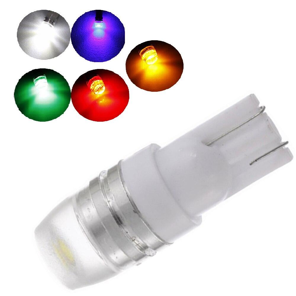 YSY 100Pcs New White Super Bright T10 LED Light 1.5W W5W 194 192 168 DC 12V Auto Car Bulb Reading Light Lamp Signal Light