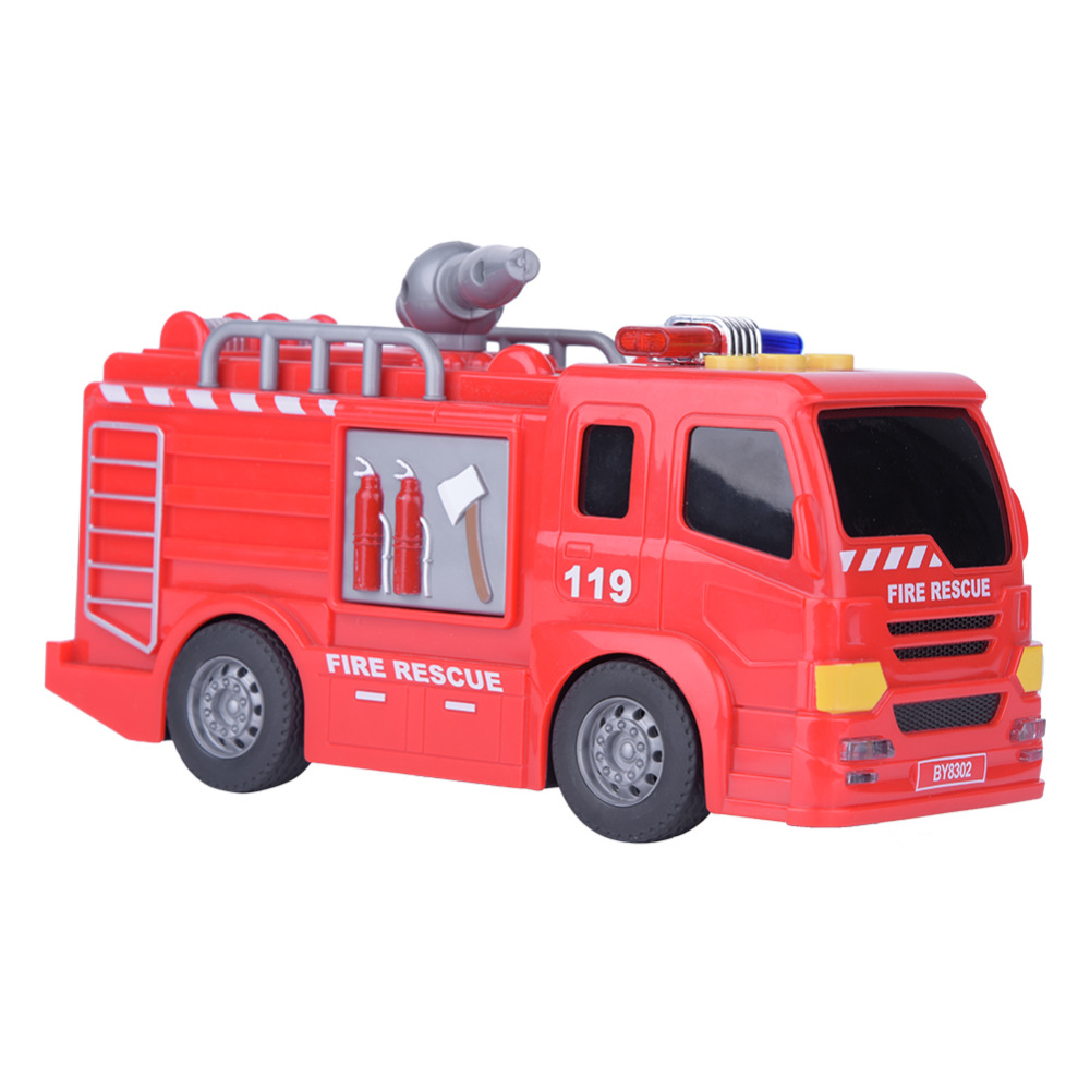 Fire Rescue Truck Toys Mini Car Model Toys Plastic Inductive High Quality Kids Educational Toy Gifts For Children Boy Collection