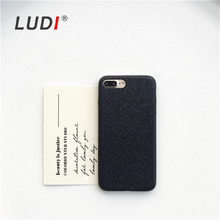 LUDI Flash Glitter Red PU Case for iPhone X 8 6s 7Plus Black Grey Silver Couple Soft Cover For iPhone 5 SE 7 8Plus Case for lady unique skull couple pattern protective plastic back case for iphone 5 red black
