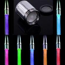 3 Color Temperature Sensor/7 Color Changing/Single Led Tap Water Faucet Light UK