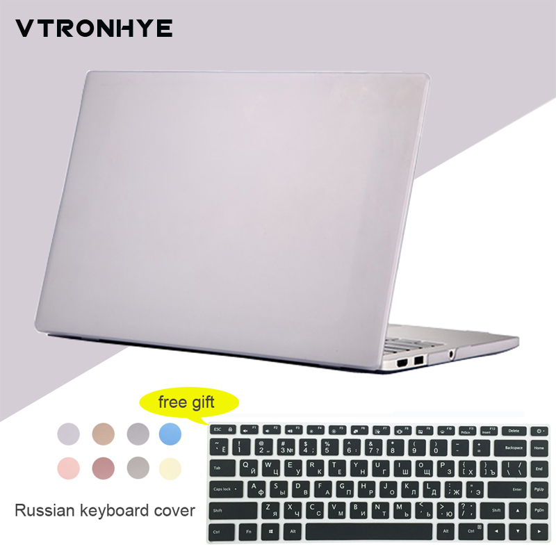 2018 New For Xiaomi Mi Air 12.5 13.3 Notebook Case Ultra Slim Plastic Shell Case For Mi Notebook 12 13+Russian Keyboard Cover