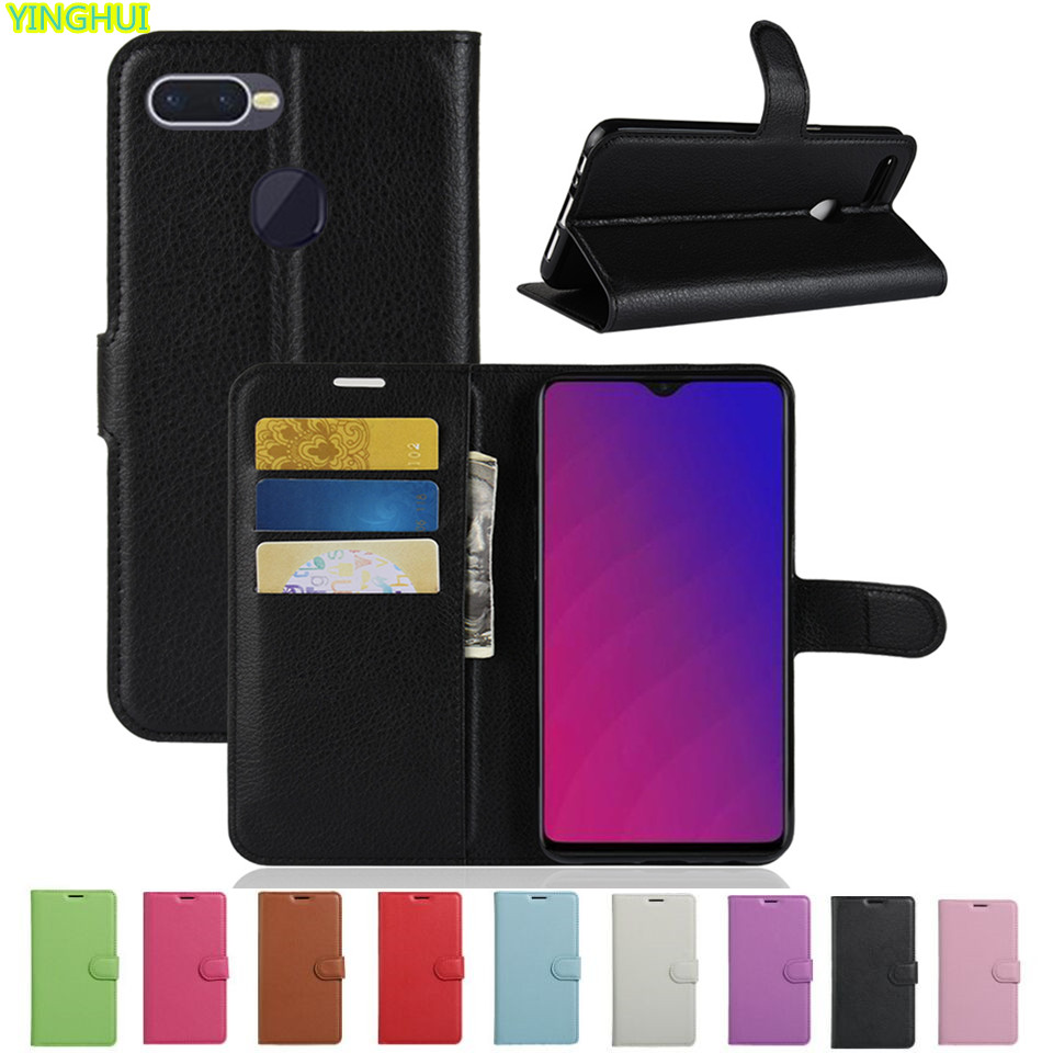 OPPO F9 Case OPPO F9 Case Flip Wallet PU Leather Phone Cases OPPO F9 Pro CPH1823 CPH1828 CPH1881 Cover Fundas Holder Stand