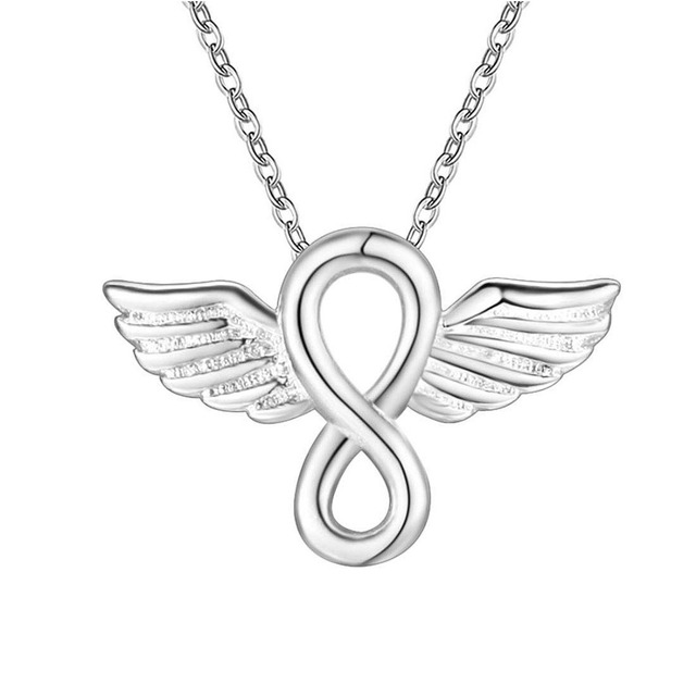 Aliexpress Com Buy Tiny Angel Wings Infinity Necklace