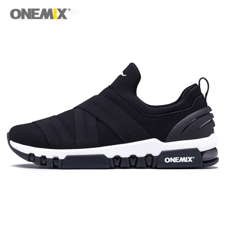 ONEMIX chaussures de course pour hommes lumière sneakers pour femmes tout-allumette respirant sneakers pour en plein air trekking marche chaussures de course