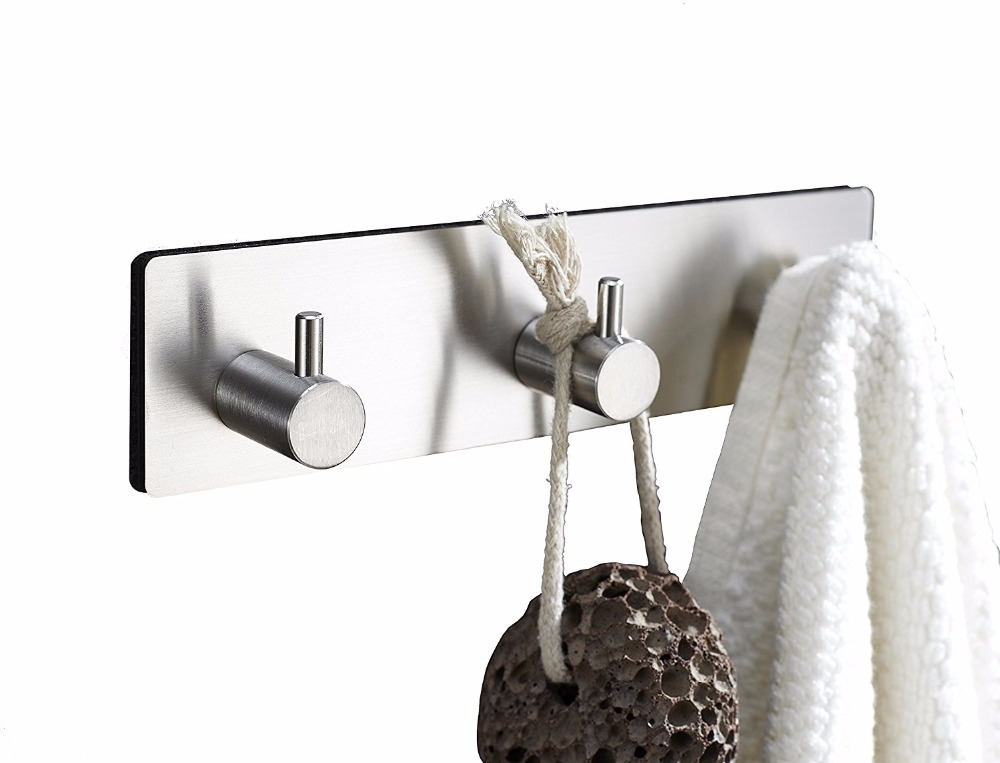 Self adhesive style Stainless steel Key holder bags hanger organizer ...