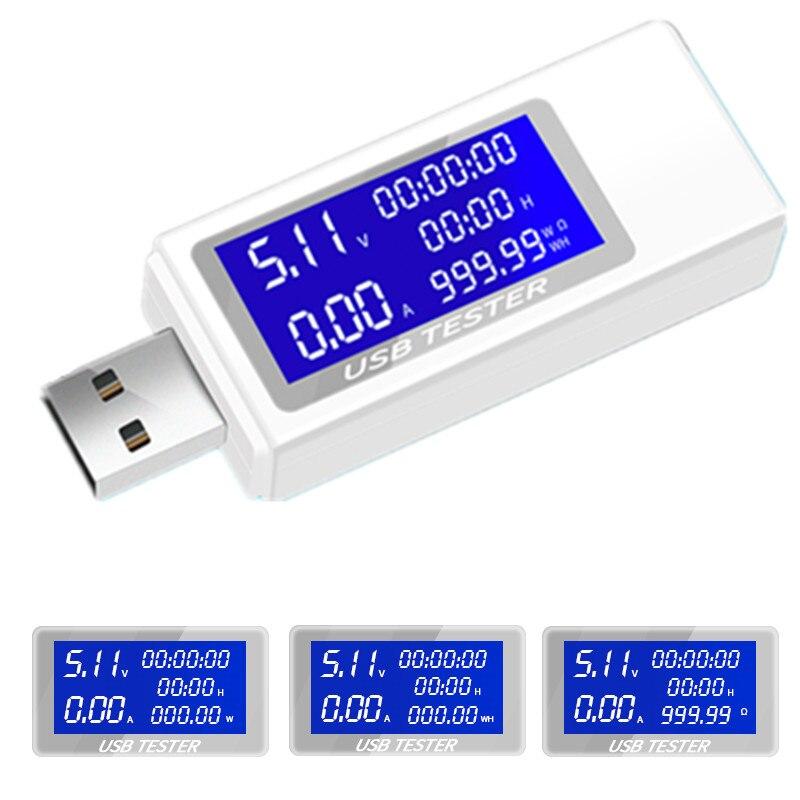 9 En 1 DC USB probador de corriente 4-30 V voltaje temporización metros amperímetro Monitor Digital de corte indicador de energía Banco 40%