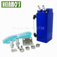 750ml Billet Aluminum Racing Engine Oil Fuel Catch Reservoir Tank Can With Hose Indicator Universal D1