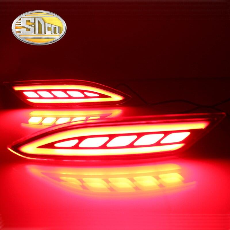 SNCN Multi-functions Car LED Rear Fog Lamp Brake Light Turn Signal Auto Bulb Decoration Lamp For Honda HRV HR-V 2015 - 2018 2pcs for honda crv cr v 2007 2008 2009 sncn multi function led rear bumper light rear fog lamp auto bulb brake light reflector