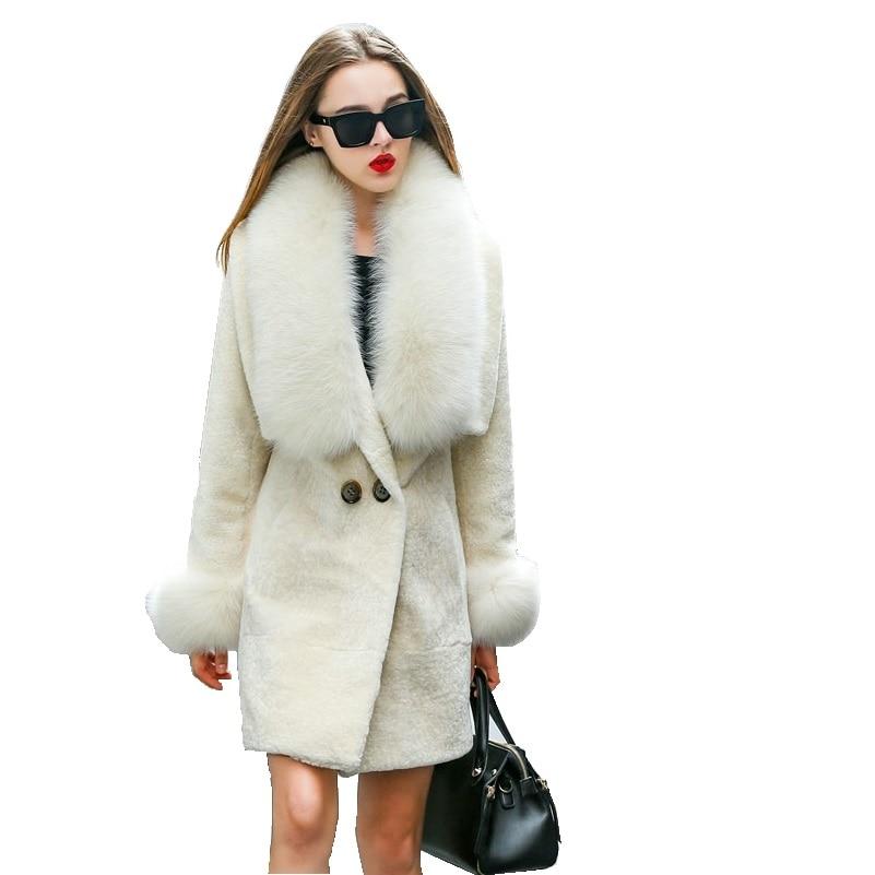 Mouton Coat female jacket women's jacket fur coat wool coat Women's winter jackets real fur women's fur coats winter