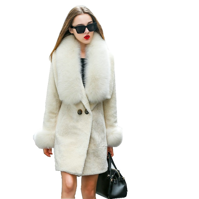 Mouton Coat female jacket womens jacket fur coat wool coat Womens winter jackets real fur womens fur coats winter