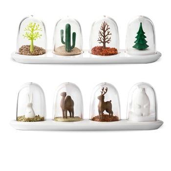 Four Seasons Plant Spice Jar 4 pcs/set