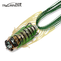Tsurinoya LY21 Cicada Froggy 15.5g 65mm Fishing Lure Frog  Popper Artificial Soft Baits Topwater Plastic Snakehead Frogs Lure