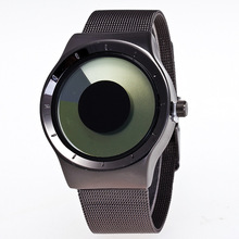 2017 New Arrival Stylish Simple Full Stainless Steel Black Quartz Wrist Watch Wristwatches for Men Male