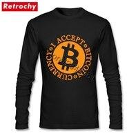 Nhà máy Giá Tôi Chấp Nhận Bitcoin T Áo Sơ Mi Nam của T-Shirt Cộng Với Kích Thước Cao Cấp Cotton Crew cổ Tee Shirt
