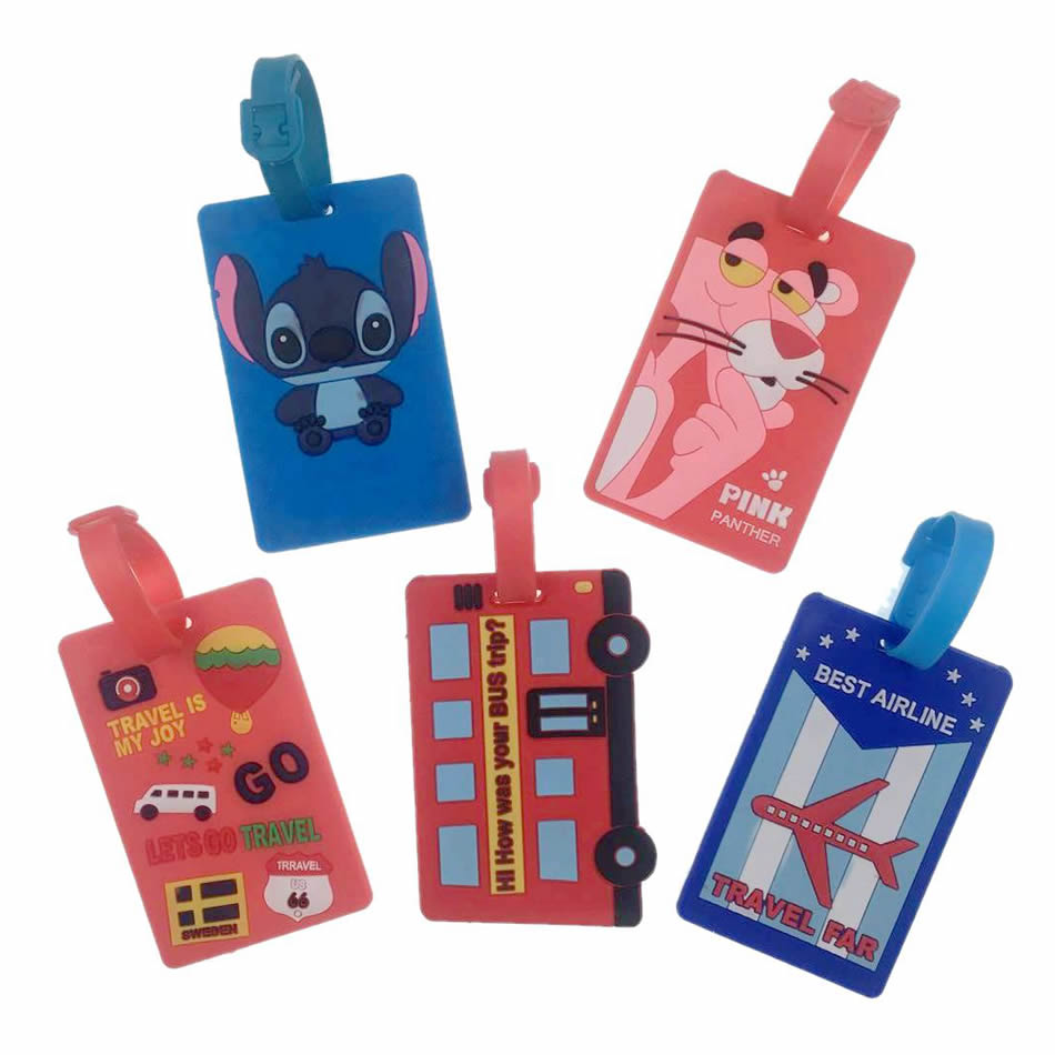 Animal Pink Panther Luggage Tag Travel Accessories Silica Gel Organize ID Addres Holder Suitcase Baggage Portable Boarding LabelAnimal Pink Panther Luggage Tag Travel Accessories Silica Gel Organize ID Addres Holder Suitcase Baggage Portable Boarding Label