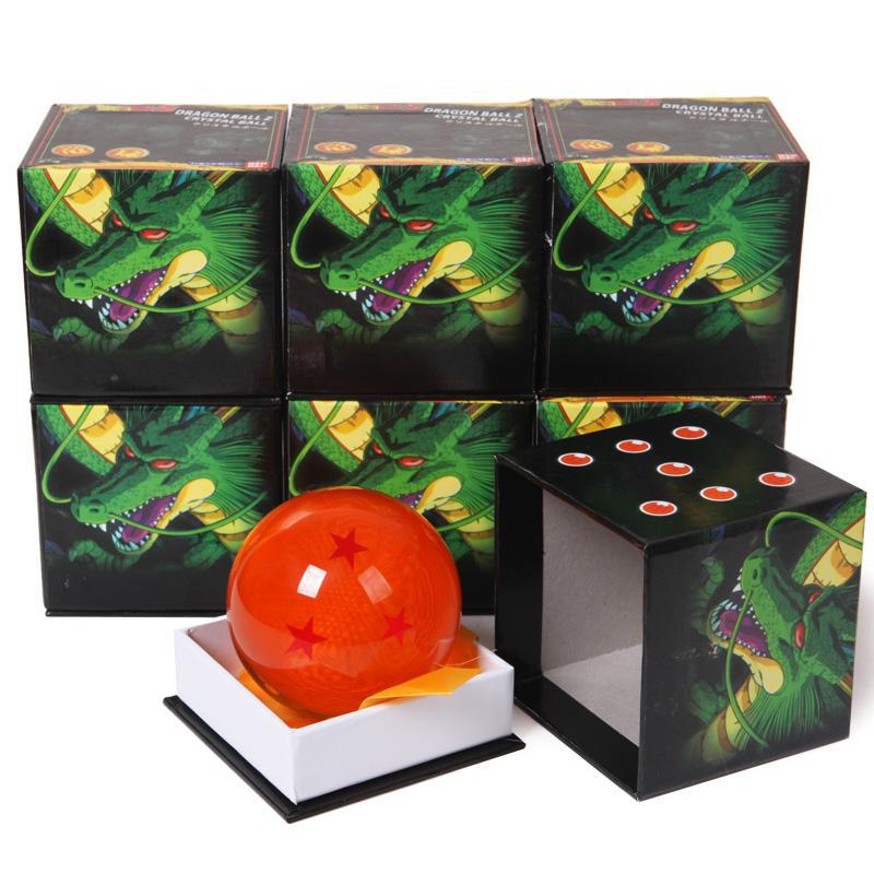 Japanese Anime Dragon Ball Z Crystal Ball Big 1-7 Stars Dragon Ball 7cm Rubber Material New in Box brand new 3 5cm dragon ball z new in box 7 stars crystal balls set of 7 pcs complete set for children new year christmas gift