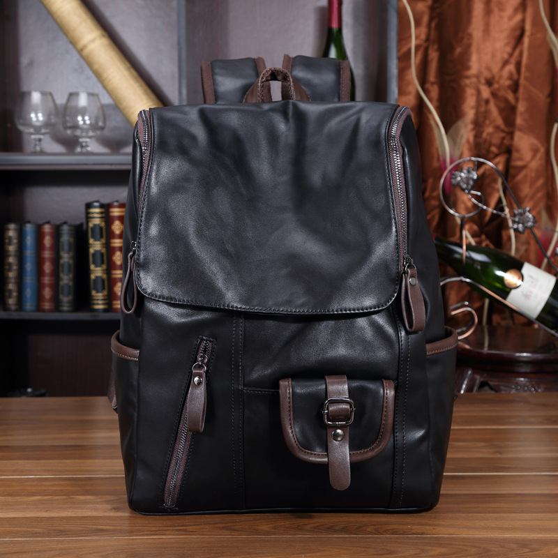 Men Backpack Leather Casual Travel Backpacks Laptop Travel Rucksack Male School Bags Mochila Masculina Sac a Dos Rugzak Zaino 18l fashion backpack hydration pack rucksack waterproof bicycle road bag knapsack daypack school bags mochila sac a dos
