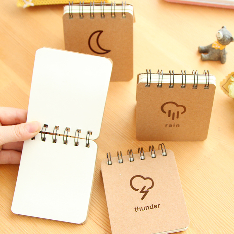 Weather Notepad Mini Coil Book Portable Notebook 70 Sheet Daily Memos Planner Stationery Office Accessories School Supplies 6182