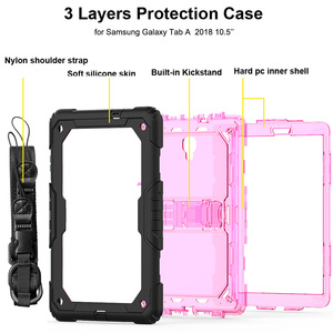 Image 5 - Case For Samsung Galaxy Tab A A2 10.5 2018 T590 T595 Heavy Duty Shockproof Kids Stand Case Cover SM T590 SM T595 Shoulder Strap