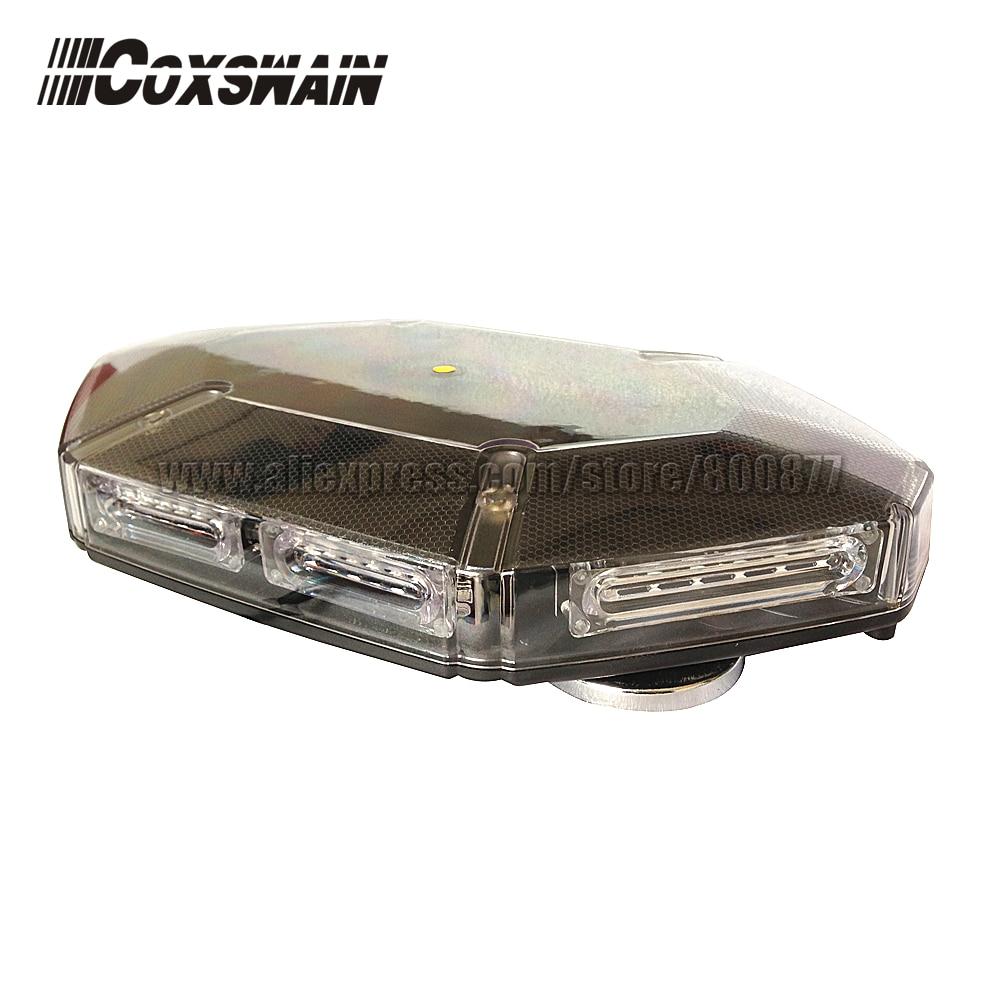 Coxswain VS-950D LED Mini lightbar warning light, 48*1W LED, Cigarette plug with 2 switches, 15 patterns, 4 heavy magnetic leg