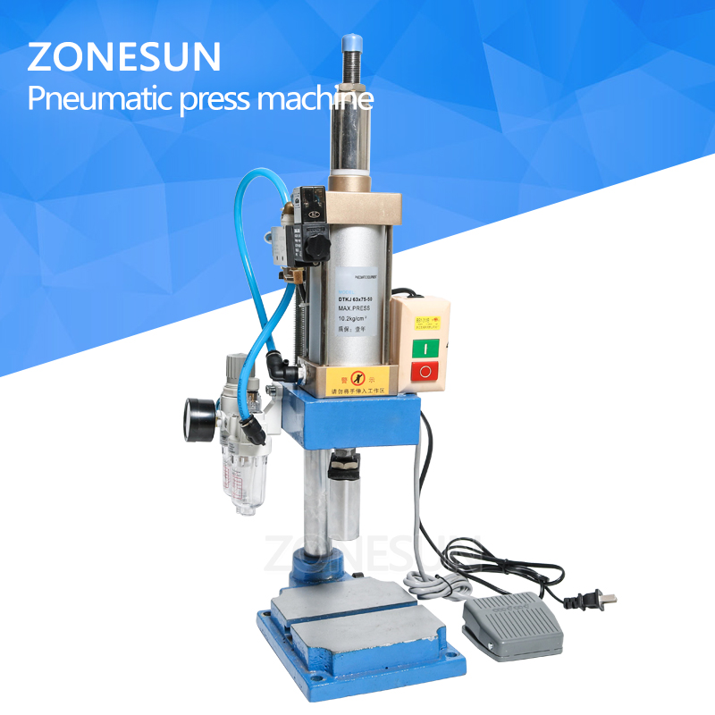 ZONESUN pnuematice press punching printing machine trademark logo letter stamps print cutting die emboss press force adjustable letter print raglan hoodie