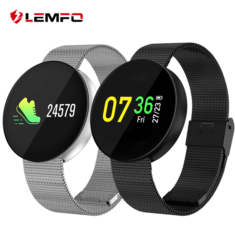 где купить LEMFO OLED Color Screen IP67 Waterproof Smart Bracelet Sport Mode Heart Rate Blood Pressure Oxygen Monitoring Fitness Bracelet дешево