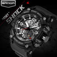 2019 relojes deportivos para hombres relojes de pulsera militares impermeables estilo G reloj Digital de cuarzo analógico de choque reloj masculino reloj