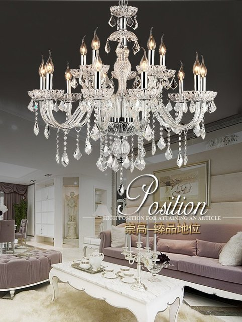 Villadom House Lighting Italy Style Crystal Luxury Chandelier Modern Living Room Glass