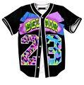 Verão homens de beisebol cor 23 de impressão 3D homens do hip hop de manga curta plus size