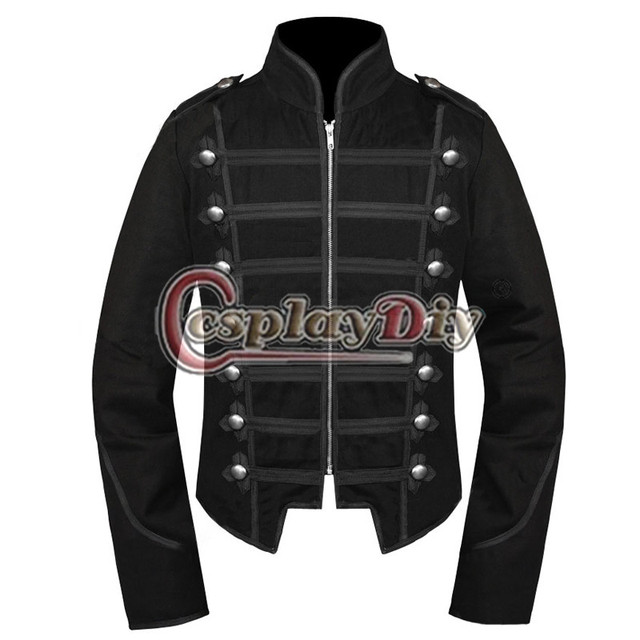 my chemical romance unisex black jacket emo military parade outfit