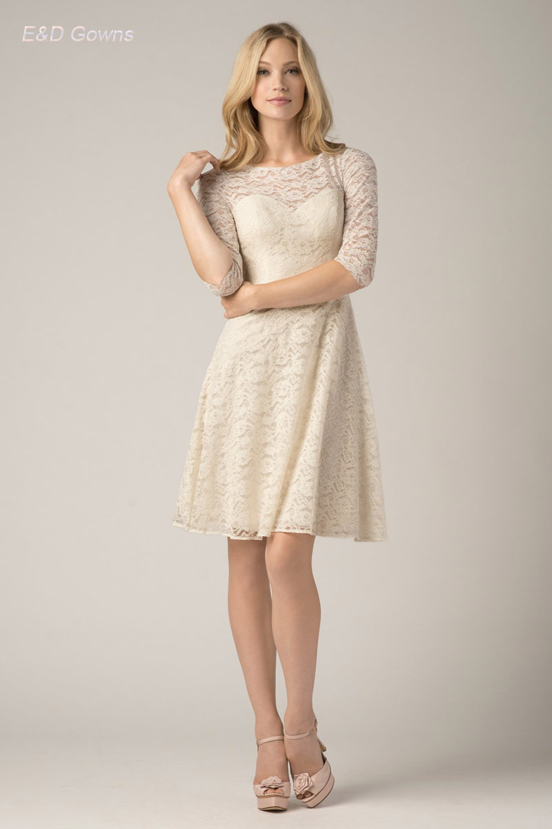 Nude Color Bridesmaid Dresses A Line New Fashion Scoop