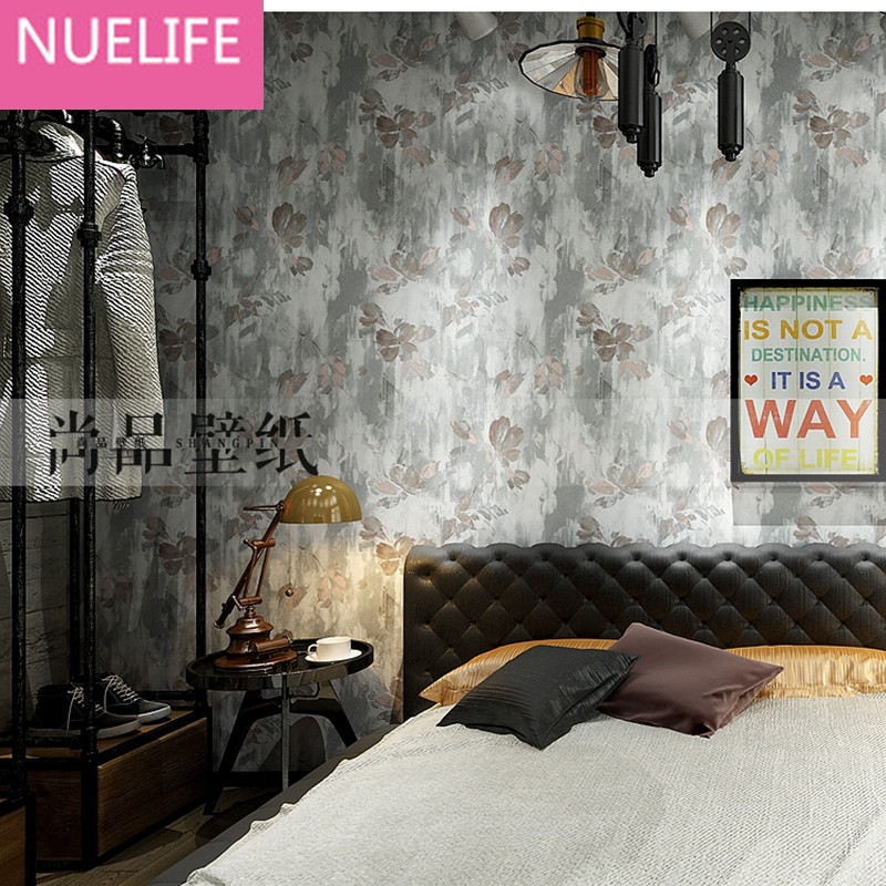 0.53x10 Meter Nostalgic Cement Gray Industrial Style Nonwovens Wallpaper Living Room Bedroom Clothing Store Bar  Wallpaper N12 junran america style vintage nostalgic wood grain photo pictures wallpaper in special words digit wallpaper for living room