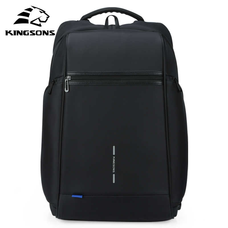 Kingsons Man Backpack Fit 15 17 inch Laptop USB Recharging Multi-layer Space Travel Male Bag Anti-thief Mochila