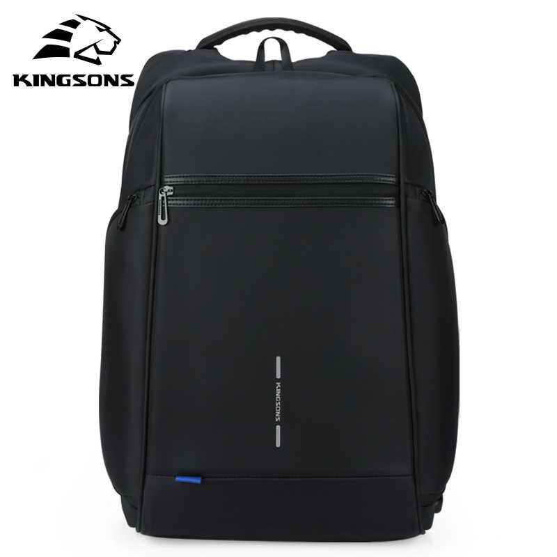 Kingsons человек рюкзак Fit 15 17-дюймовый ноутбук USB для подзарядки многослойная пространство дорожная мужская сумка Анти-Вор mochila