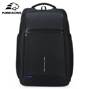 Image 3 - Kingsons Man Backpack Fit 15 17 inch Laptop USB Recharging Multi layer Space Travel Male Bag Anti thief Mochila