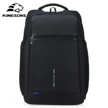 Kingsons Man Backpack Fit 15 17 inch Laptop USB Recharging Multi-layer Space Travel Male Ba