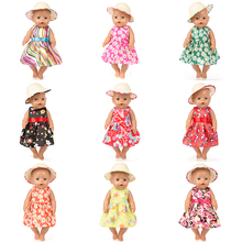 New Floral Dress Doll clothes Wear for 43cm baby Doll, Children best Birthday Gift(only sell clothes) red doll dress clothes wear fit 43cm baby born zapf children best birthday gift only sell clothes