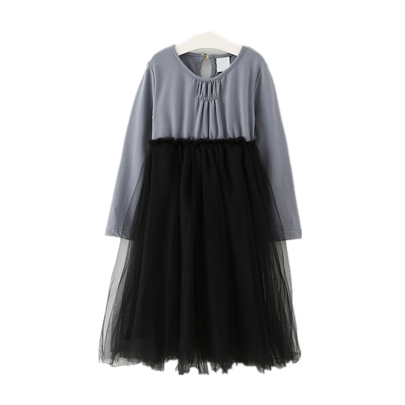 4 to 14 years kids & teenager girls patchwork tulle princess party dess children fashion long sleeve spring fall dress clothes