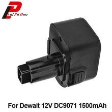 NI-CD Электроинструмент замены батареи 12 В 1.5Ah для Dewalt сверла: DE9071, DW9072, DC528, DW053K-2, DW904, DW917, DW980, DW915, DC727