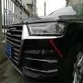 Automóvil sedán cubierta auto styling para Audi Q7 2016 ABS chrome frente cabeza lámpara luz cejas párpados sticker accessoreis de moldeo ajuste