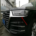car sedan auto cover styling for Audi Q7 2016 ABS chrome front head lamp light eyelid eyebrow sticker accessoreis moulding trim